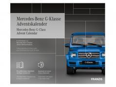 Mercedes-Benz G klasse adventskalender 2020: Mercedes-Benz G klasse blå 1:43 Franzis