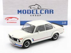 BMW 2002 Turbo (E20) Byggeår 1973 hvid 1:18 Model Car Group