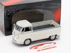 Volkswagen VW T1 Pick Up jaar 1960 wit / grijs 1:43 Cararama