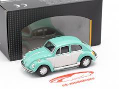 Volkswagen VW Beetle Classic turquesa / Branco 1:43 Cararama
