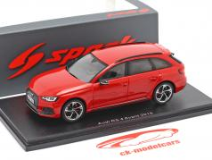 Audi RS 4 Avant year 2018 misano red 1:43 Spark