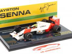 Ayrton Senna McLaren MP4/5B #27 Champion du monde Monaco GP F1 1990 1:43 Minichamps