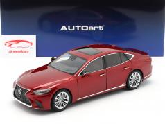Lexus LS 500h year 2018 red metallic 1:18 AUTOart