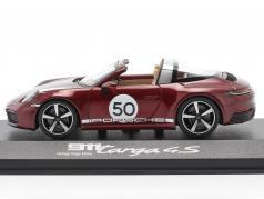 Porsche 911 Targa 4 S #50 Наследие Издание вишнево-красный металлический 1:43 Minichamps