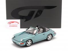 Porsche 911 (964) Carrera 4 Targa Byggeår 1991 turkis metallisk 1:18 GT-SPIRIT