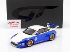 Porsche 911 (997) #1 Old & New Body Kit Rothmans 2018 蓝色 / 白色 1:18 GT-SPIRIT