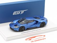 Ford GT Showcar azul metálico 1:43 TrueScale