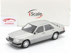 Mercedes-Benz E-Klasse (W124) 建設年 1989 アストラルシルバー 1:18 iScale