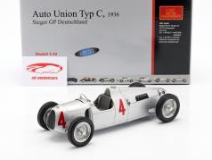 B. Rosemeyer汽车联盟C型一级方程式赛车1936 1:18 CMC