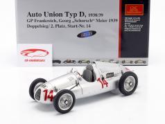 G. Meier Auto Union Type D formule 1 1939 1:18 CMC