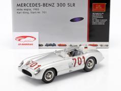 梅赛德斯 - 奔驰300 SLR的Mille Miglia#701 1955年卡尔·克林1:18 CMC