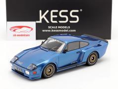 Porsche 911 (930) Biturbo 3.3 Almeras Baujahr 1993 blau 1:18 KESS
