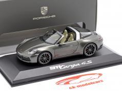 Porsche 911 Targa 4 S donkergrijs metalen 1:43 Minichamps