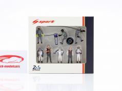 Porsche 911 RSR #91 24h LeMans 2018 Pit Stop equipaggio 1:43 Spark
