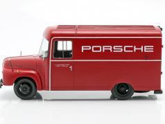 Opel Blitz 1,75t Porsche Ano de construção 1952-1960 vermelho 1:18 Schuco