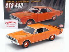 Dodge Dart GTS 440 Bouwjaar 1969 oranje 1:18 GMP