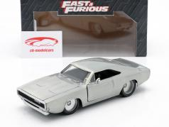 Dom´s Dodge Charger R/T fra den film Fast and Furious 7 2015 sølv 1:24 Jada Toys