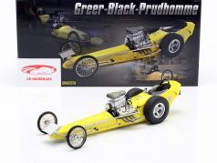 Greer-Black-Prudhomme Vintage Dragster geel 1:18 GMP