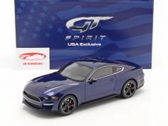 Ford Mustang GT Bullitt Ano de construção 2019 kona azul 1:18 GT-Spirit