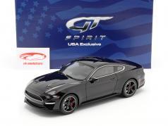 Ford Mustang GT Bullitt Bouwjaar 2019 schaduw zwart 1:18 GT-Spirit