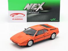 BMW M1 ano 1978 laranja 1:24 Welly