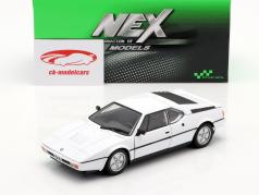 BMW M1 ano 1978 branco 1:24 Welly