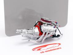 Chevrolet Camaro Big Red 427 engine and transmission 1:18 GMP