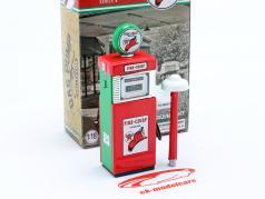 Wayne 505 Texaco Fire Chief gas Pump 1951 red / White / green 1:18 Greenlight