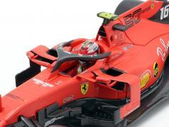 Charles Leclerc Ferrari SF90 #16 勝者 イタリア語 GP 式 1 2019 1:18 Bburago