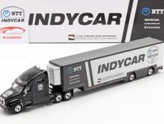 Kenworth T2000 Team Transporter Indycar Series 2020 schwarz / silber 1:43 Greenlight