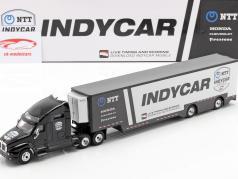 Kenworth T2000 team Transporter Indycar Series 2020 black / silver 1:64 Greenlight