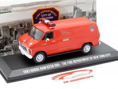 Dodge RAM B250 Van New York City Fire Department 1983 red 1:43 Greenlight