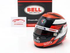 Kimi Räikkönen #7 Alfa Romeo Racing Orlen formula 1 2020 helmet 1:2 Bell