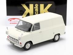 Ford Transit MK1 Van Bouwjaar 1965 room Wit 1:18 KK-Scale