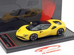 Ferrari SF90 Stradale Bouwjaar 2019 modena geel 1:43 BBR