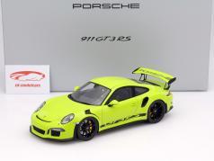 Porsche 911 (991) GT3 RS verde Com Mostruário 1:18 Spark / 2 escolha