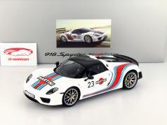 Porsche 918 Spyder #23 Martini Weissach Package Com Mostruário 1:18 Spark / 2 escolha