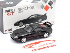 Toyota Supra (JZA80) LHD negro 1:64 TrueScale