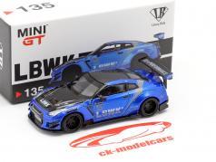 LB-Works Nissan GT-R (R35) Type 2 LHD LB Work Livery 2.0 azul 1:64 TrueScale