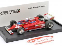 Didier Pironi Ferrari 126CK #28 Cuarto Mónaco GP fórmula 1 1981 1:43 Brumm