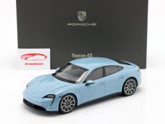 Porsche Taycan 4S 建設年 2019 frozenblue metallic 1:18 Minichamps
