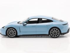 Porsche Taycan 4S Baujahr 2019 frozenblue metallic 1:18 Minichamps