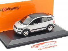 Audi A2 (8Z) Ano de construção 2000 prata 1:43 Minichamps