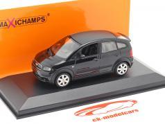 Audi A2 (8Z) Ano de construção 2000 Preto metálico 1:43 Minichamps