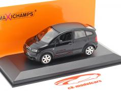 Audi A2 (8Z) Bouwjaar 2000 zwart metalen 1:43 Minichamps
