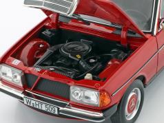 Mercedes-Benz 200 (W123) limousine Anno di costruzione 1982 rosso 1:18 Norev