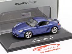 Porsche Cayman S year 2006 blue metallic 1:43 Schuco