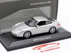 Porsche 911 (996 II) Carrera year 2002 silver gray metallic 1:43 Minichamps