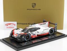 Porsche 919 Hybrid #2 Ganador 24h LeMans 2017 Bernhard, Hartley, Bamber 1:18 Spark / 2. elección