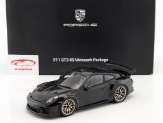 Porsche 911 (991 II) GT3 RS Weissach Package 2018 nero Con vetrina 1:18 Spark / 2. scelta